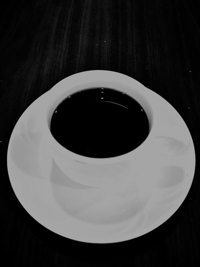 A Cup of Coffee Coffee StillLifePhotography Hobbyphotography Mobilephotography Huaweiphotography P20 Pro Huaweip20pro Black Background Studio Shot Plate Ink Black Color Close-up Beverage