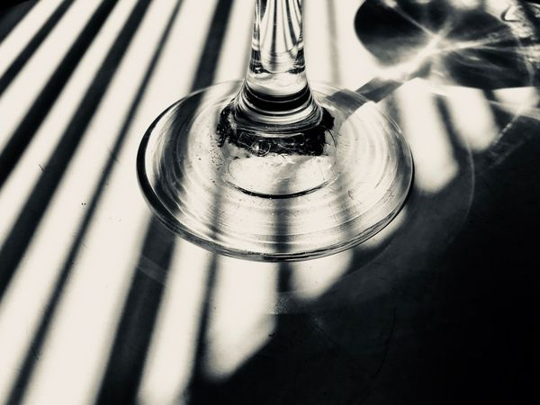 Cheers... Abstract Shadow Shadows & Lights Getting Inspired EyeEm Selects Indoors  No People Close-up Pattern Still Life Glass Reflection Glass - Material Single Object Selective Focus Alcohol Day High Angle View