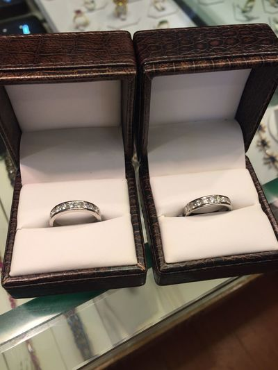 First Eyeem Photo Platinum Diamonds Matching Pair Ring Wedding Wedding Rings