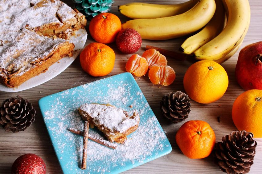 Fruit Food Banana Healthy Eating Bread Food And Drink Freshness High Angle View Bakery Sweet Food