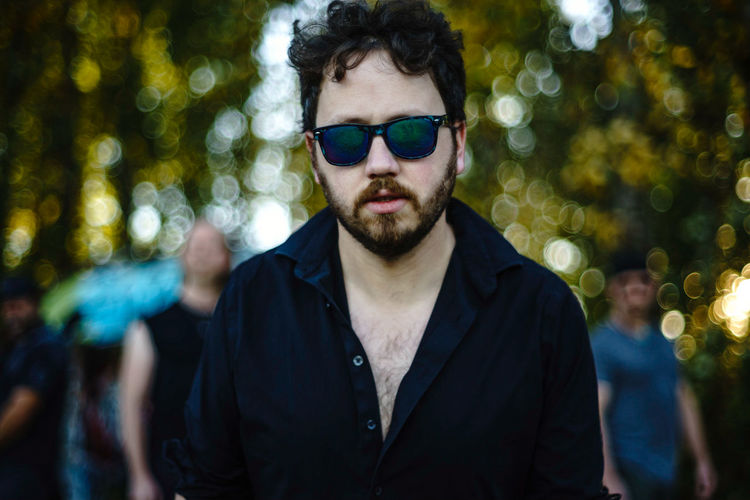 Tim, of the band, The Breaking. Bokeh Pdxmusic Portrait Beard Men Tree Handsome Headshot Front View Arts Culture And Entertainment Individuality Sunglasses 2018 In One Photograph
