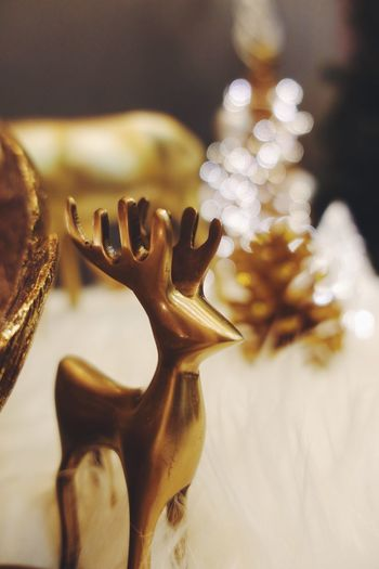 New Year Gold Deer Deer Decoration Gold Colored Christmas Holiday Christmas Decoration