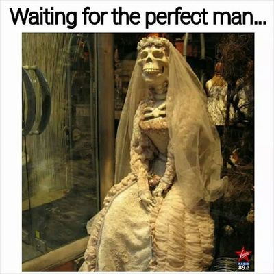 This would be a perfect halloween costume and caption for me. Hahahahahahhaa... oh gosh, the irony! Perfectguy Halloween Bride Dating love lol