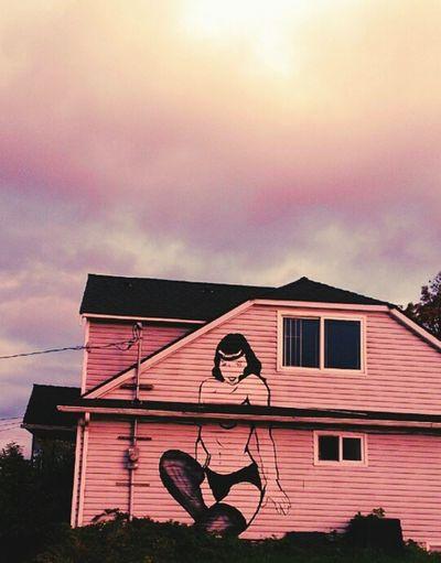 Seattle Betty Page Wall Art Graffiti Mural Art Street Photography Streetphotography Street Art/Graffiti Urbanphotography