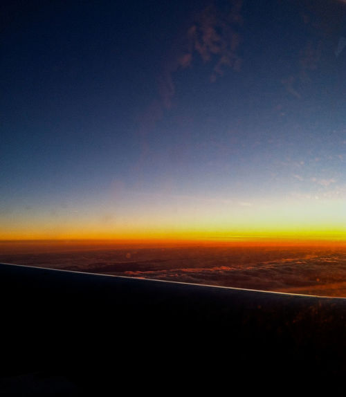 Airplane Window View Airplane View Airplane Window Horizontal Line Multi Colored Clear Sky Background For Quotes Beauty In Nature In The Skies Landscape Multicolored No People Outdoors Presentation Background Scenics Sky Sunset Tranquil Scene Tranquility