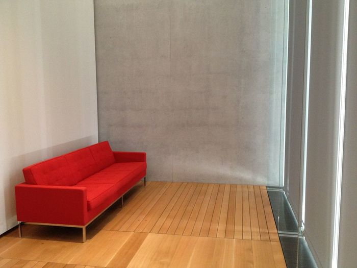 Red Red Furniture Red Couch Wood Floor Museum Concrete Wall Red Sofa Gallery Museum Gallery