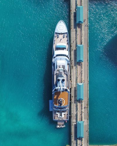 The superyacht Pacific Vertical Topdown Luxurylifestyle  Opulence  Djiphantom4pro DJI X Eyeem Luxury Bahamas Megayacht Yacht Superyacht Nautical Vessel Transportation High Angle View Mode Of Transport Water Day Aerial View Sea Sailing No People Outdoors