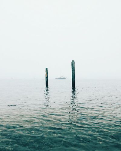 Water Fog Tranquility Outdoors No People Day Floating On Water Nature Sky Portsmouth Foggymornings Landscape Mobile_photographer Leicaphotography HuaweiP9 Minimalmood Idyllic Scenics Horizon Over Water