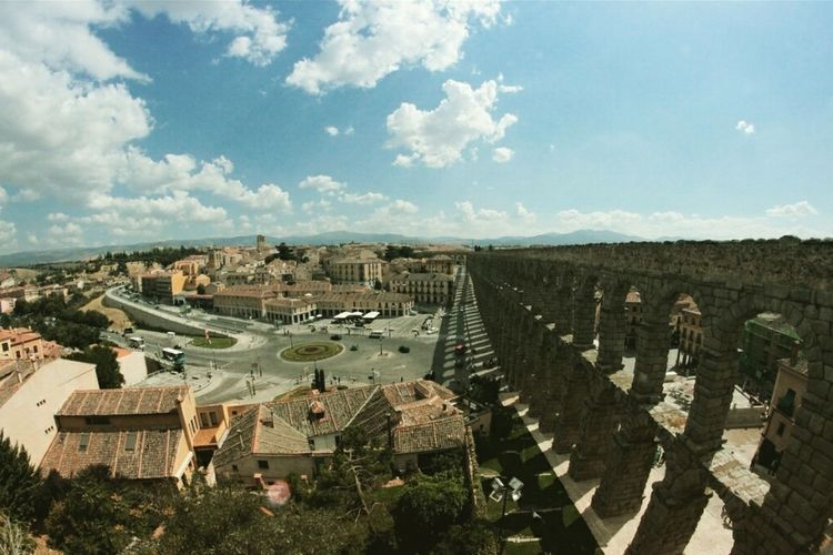 Segovia,spain España🇪🇸 5€cover Sky And Clouds Romans Archtecture Aqueduct Autumn Fisheyelens