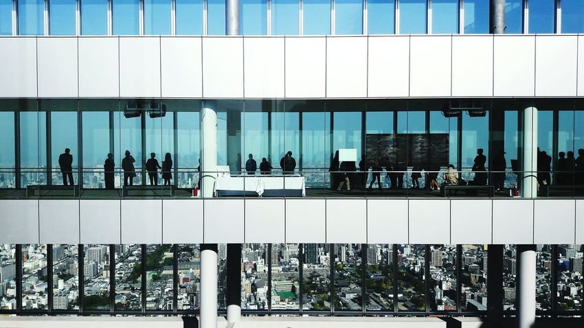 Adapted To The City OSAKA Osaka Japan Japan Japan Photography Film Panoramic View See The World Through My Eyes From My Point Of View Bird's Eye View Architecture Group Of People Minimalistic Exploring New Ground Urban Geometry Urban Urban Exploration Blue Sky Silhouettes Top Of The World Harukas Travel High Level EyeEm Best Shots Business Finance And Industry Miles Away The City Light Flying High The Architect - 2017 EyeEm Awards Neighborhood Map Live For The Story Breathing Space Colour Your Horizn Modern Workplace Culture Go Higher Visual Creativity The Architect - 2018 EyeEm Awards