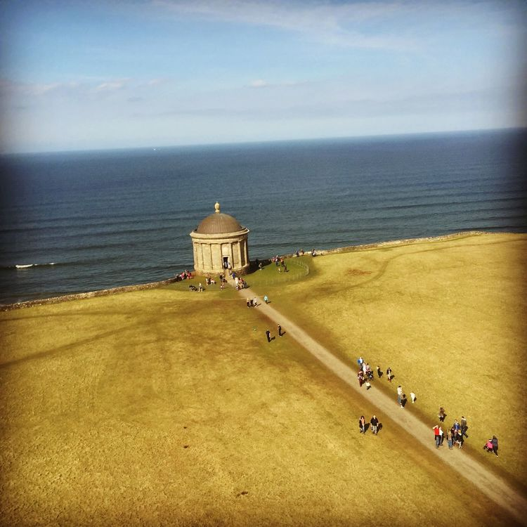Northern Ireland Mussenden Temple Down Hill Sea Landscape Nature