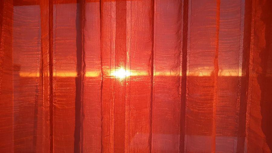 Full frame shot of orange window