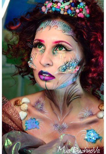 Mermaid Glamour Fashion See Beauty Make-up Fashion Model Halloween Halloween Makeup Halloween2016 Halloweenparty Fantasy Sirenes 美人鱼 master Duzhnova Karine