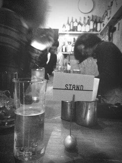 飲んでます。 Bar Black And White Last Drink, I Promise Alcohol People Watching