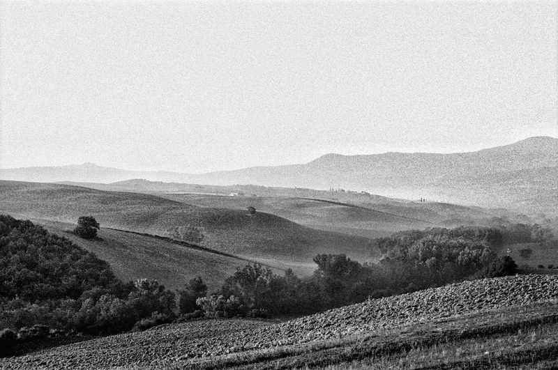 Val d'Orcia Travel Destinations Tuscany EyeEm Italy Filmphotography Tranquil Scene Nature Tranquility Beauty In Nature Scenics - Nature Landscape Environment Day Land No People Outdoors Mountain High Angle View Idyllic