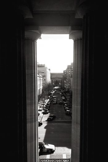 The scale of the columns never ceases to amaze Architecture Built Structure The Way Forward Day City Building Exterior No People Indoors  Monochrome Light And Shadow The City Light Perspective Historic D.C.