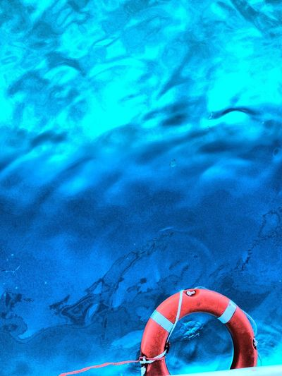 Azul Blue Blue Blue Formentera Water Life Saving Equipment Life Saving Ring Light And Shadow Turquoise Water Water Study