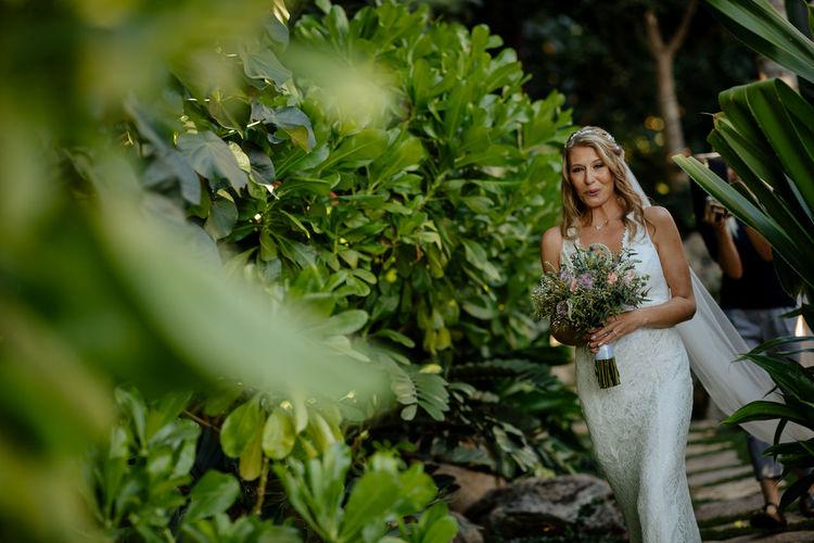 Bride walking down the isle