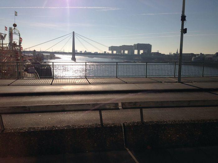 Cologne Cologne , Köln,  Bridge Kranhäuser Rhein
