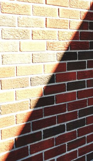 Steps against brick wall