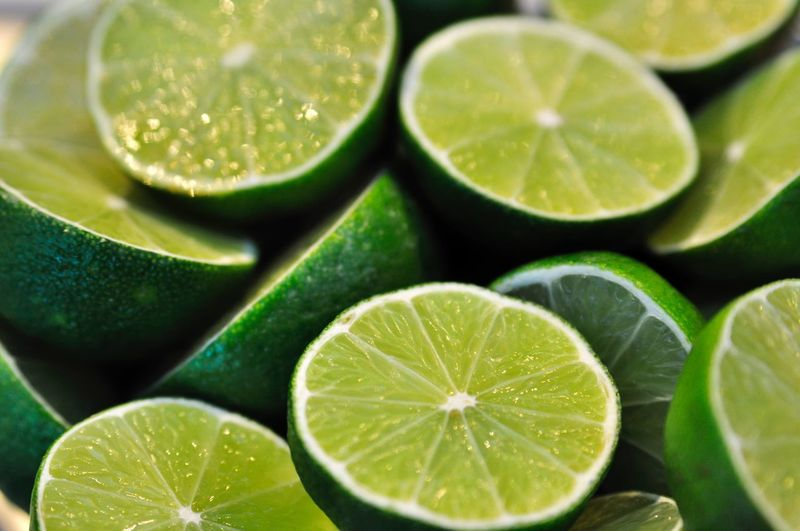 Close-up of lime slices