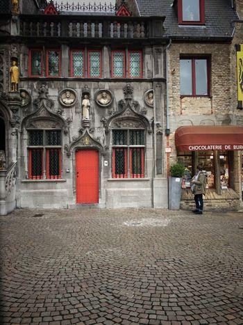 Cobblestone Building Exterior Architecture Real People Europe Belgium Chocolate Windowshopping Chocolatier  Belgian Chocolate  Brugge Bruges Brugge, Belgium
