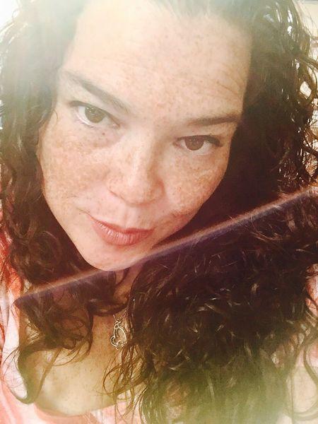 Enjoying Life Selfie ✌ Long Hair Taking Photos Corpus Christi, Tx Curly Hair Sunny Light Looking At Camera IPhoneography
