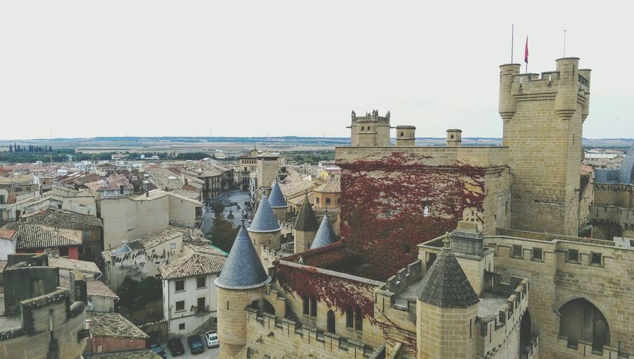 Olite Travel Destinations Built Structure High Angle View Tourism Day Outdoors Sky Tower History Navarre Navarra Castle Travel Architecture SPAIN Olite Architecture Building Exterior