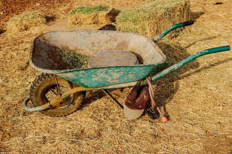 Abandoned Rusty Field Outdoors Hay Farm Farm Life Colors Green Color Green Straw