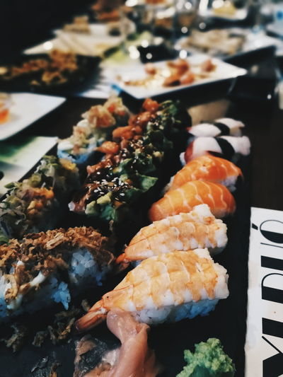 Seafood Food And Drink Food Fish Japanese Food Healthy Eating Sushi Freshness Ready-to-eat Indoors  No People Sashimi  Close-up Day