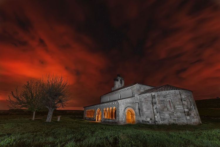 Church Duratón Segovia SPAIN Built Structure Architecture Building Exterior Sky Plant Building Nature Night Land Field No People Place Of Worship Cloud - Sky Grass Star - Space Religion Tree My Best Photo