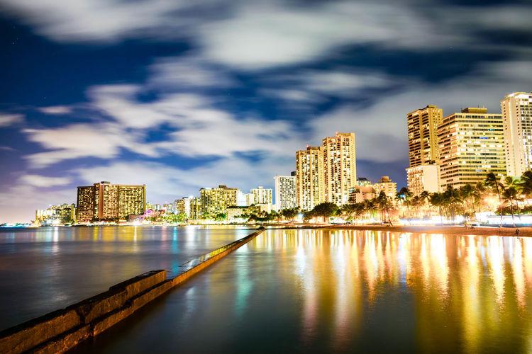 Waikiki Skyline Against Sky