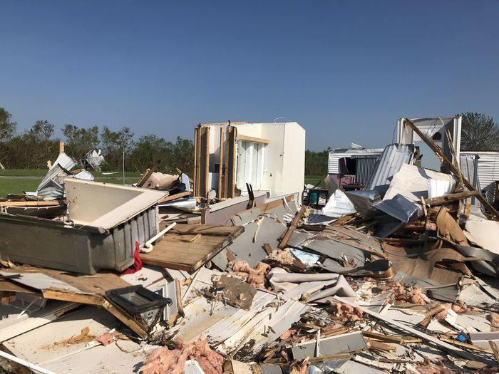 Total destruction hurricane laura 2020 - lake charles, louisiana - mobile home park