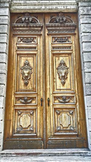 Impressive Wooden Wood Door Ornate Ornate Door