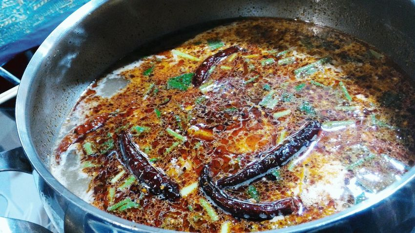Spicy Food Spicyfood Spicy Hotpot Spicyfoods Tom Yum Soup Streetfood Streetfoodfestival Hving A Soup Soup Of The Day Soup Time  Chilies Bangkok Bangkok Life... A Moment Of Zen...
