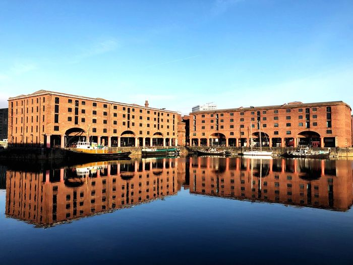 Reflections Blue Sky Travel Tourism Reflection Water Waterfront Architecture Building Exterior Built Structure Standing Water Blue Day No People Clear Sky Outdoors Nautical Vessel Travel Destinations Sky