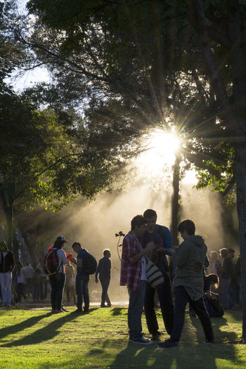 Parque El Virrey, Bogotá Bogotacity Bogotá Colombia Colombia ♥  Day Grass Green Green Color Group Of People Large Group Of People Lifestyles Nature Person Pokemon Go Sun Sunbeam Sunlight Togetherness Tree