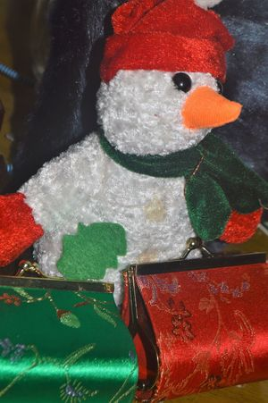 Art And Craft Celebration Christmas Close-up Cold Temperature Creativity Decoration Holiday Human Representation Indoors  No People Red Representation Snow Snowman Stuffed Toy Toy Winter