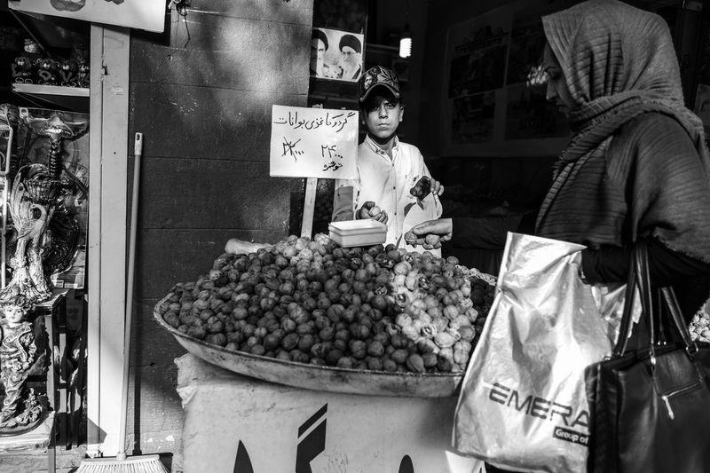Bazaar City Near East Food And Drink Fruit Iran Market Outdoors Real People Shiraz, Iran Small Business Walnuts