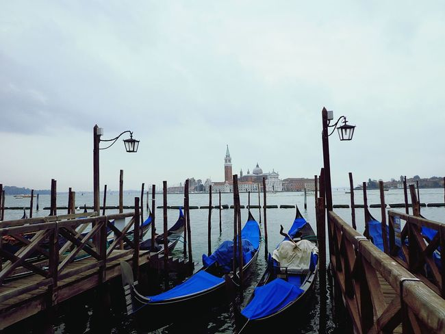 Venezia, Italy. Gondola - Traditional Boat Travel Destinations Panoramic Cityscape Outdoors Cloudy Water No People Lost In The Landscape EyeEmNewHere