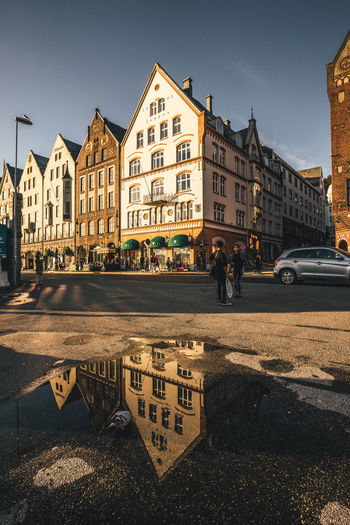 Nature Nature Photography Norway Puddleography Reflection Architecture Building Exterior Built Structure City Nature_collection Outdoor Outdoor Photography Outdoors People Puddle Real People Reflection Lake Reflection_collection Reflections Reflections And Shadows Reflections In The Water Sky Street Streetphotography Water