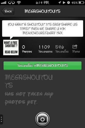 Follow Megashoutouts