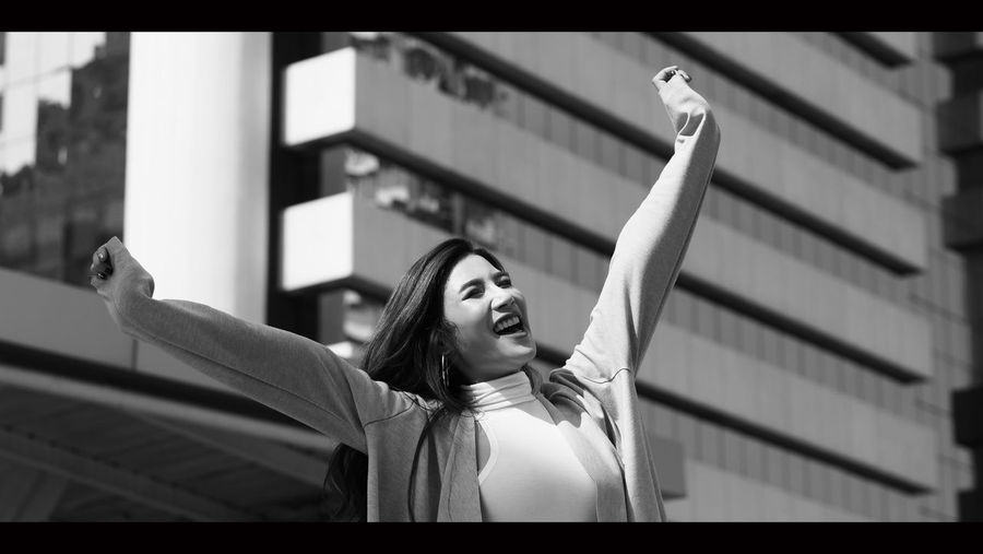 Beautiful asian business woman happy and cheerful or successful feeling with job which action like a winner by raise or lift up arms to the sky and shout yeah at outdoor city in summer season. One Person Transfer Print Young Adult Portrait Young Women Lifestyles Women Happiness Real People Smiling Auto Post Production Filter Headshot Emotion Focus On Foreground Beautiful Woman Looking Long Hair Adult Human Arm Arms Raised Business; Woman; Happy; Success; Successful; People; Excited; Young; Female; Laptop; Businesswoman; Office; Winner; White; Background; Asian; Professional; Work; Computer; Person; Beautiful; Girl; Women; Win; Smile; Adult; Attractive; Arms; Caucasian; Che