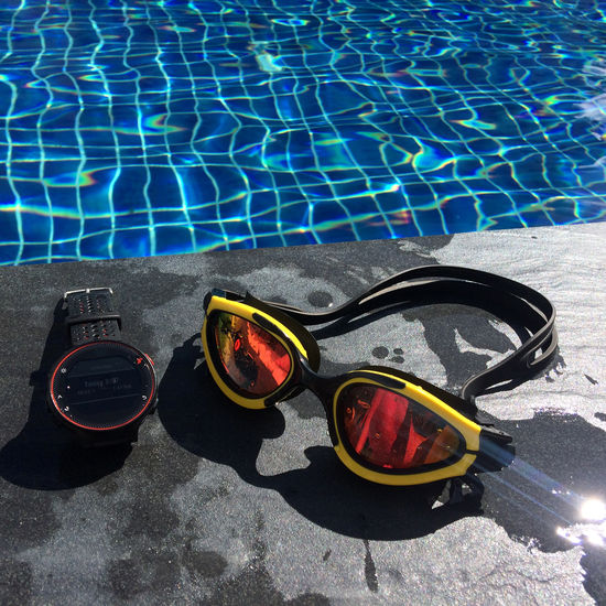 My Swimming Equipment Blue Close-up Day Goggles Healthy High Angle View Morning Nature No People Outdoors Pool Reflections Sport Sports Summer Sun Glasses Sun Light Sun Light Reflection Swim Swimming Swimming Pool Watch Water Water Reflections Waterfront