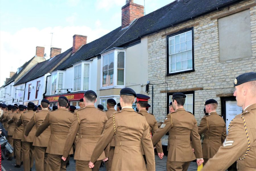 Proud to Remember Proud Soldiers Uniform Adult Adults Only Architecture Army Berry Building Exterior Day Large Group Of People Marching Men Military Outdoors Parade People Real People Remembrance Sky Togetherness