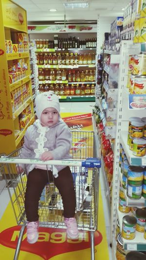 My Baby Girl <3 Shopping SUPER Market Taking Photos