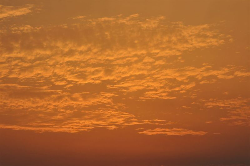 Nature's art in the sky. Sky Cloud - Sky Nature Beauty In Nature Scenics - Nature Orange Color Sunset Tranquility Tranquil Scene No People Backgrounds Yellow Dramatic Sky Majestic Idyllic Sunlight Romantic Sky Cloudscape Full Frame Day Outdoors Meteorology Atmospheric Mood Heaven Low Angle View