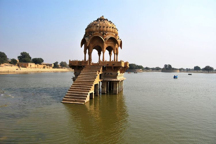 Architecture Built Structure Clear Sky Gadisarlake Historic Incredible India India Jaisalmer Lake Rajasthan Water Waterfront