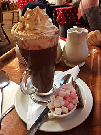 Such a Sin  but so Delicious 🤫! Hot Chocolate ❤ with some cute Marshmallows 🤤. Who can resist?!? Enjoying Life Have A Break Trip To England Vacations Tadaa Community Tadaa Friends