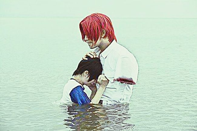Shanks with luffy in cosplay ? Luffy Shanks One Piece Cosplay